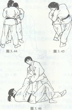 柔道比赛幼儿简笔画