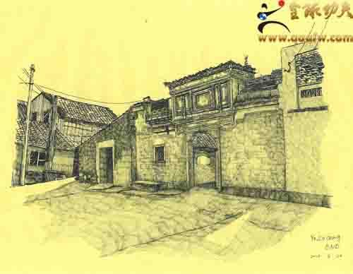江北区马径古建筑群手绘展即将开展